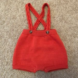 NWOT baby cat & jack knit overall romper